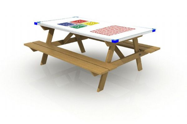 Ludo and 4 in a Row Games Table